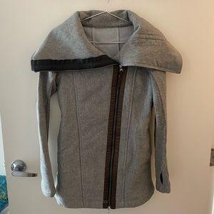 Lululemon asymmetrical large collar jacket